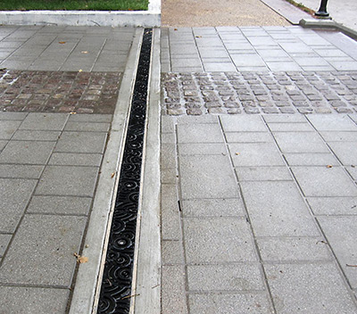 Abt drainage systems trench drain systems for Surface drainage solutions